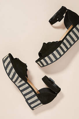 Paolo Mattei Sparkle-Striped Platform Sandals