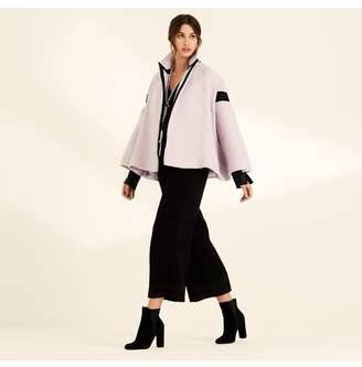 Amanda Wakeley Lilac Raffia Stripe Swing Jacket