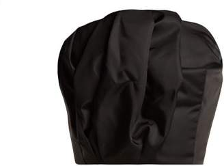Prada Gabardine Strapless Bustier Top - Womens - Black