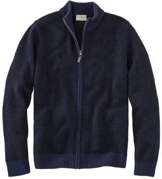 L.L. Bean L.L.Bean Men's Washable Merino Wool Sweater, Full Zip