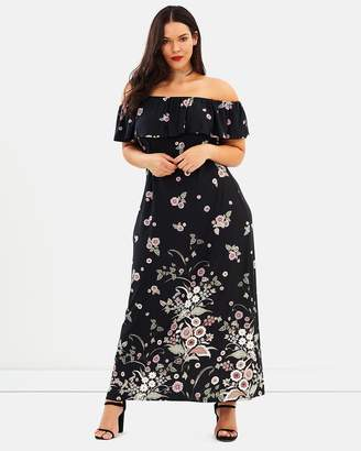 Evans Floral Border Gypsy Maxi Dress