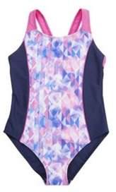 F&F Geometric Print Panel Swimsuit 3-4 years