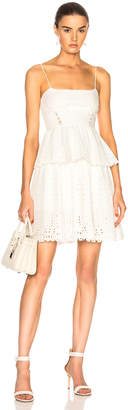 Self-Portrait Self Portrait Broderie Anglaise Mini Dress