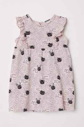 H&M Patterned Cotton Dress - Pink