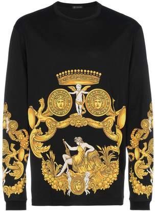 Versace Printed Long Sleeve Sweatshirt