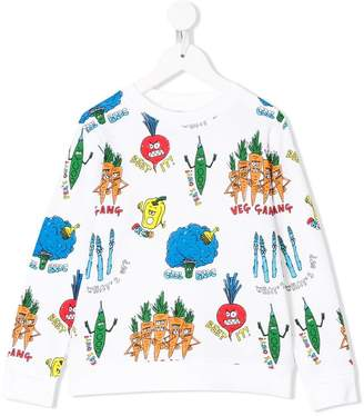 Stella McCartney veg gang printed sweatshirt