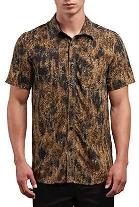 Volcom Men's Klasey Short Sleeve Button up Shirt