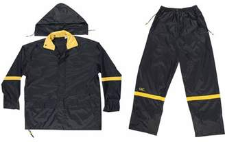 CLC Custom Leathercraft XXL Black Nylon Rain Suit Set, 3pk