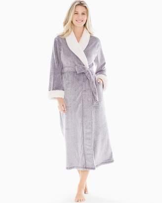 Natori Sherpa Long Robe Wisteria