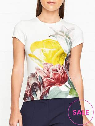 Ted Baker Pippie Tranquility Print Fitted T-shirt