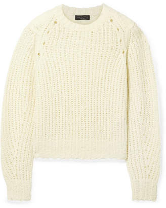 Rag & Bone Arizona Oversized Merino Wool Sweater - Cream