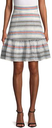 Plenty By Tracy Reese Women's Tie Flounced Skirt
