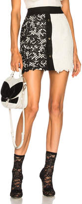 Fausto Puglisi Lace Colorblock Skirt