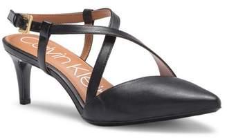 Calvin Klein Paula Patent Leather Kitten Heel Pump