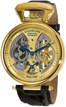 Stuhrling Original Men's Emperor's Grand Dt Diamond Watch