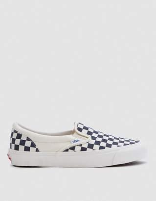 Vans Vault By OG Classic Slip-On LX in White/Navy