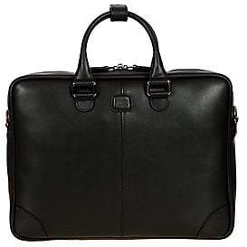 Bric's Men's Varese Business Saffiano Leather Small Briefcase