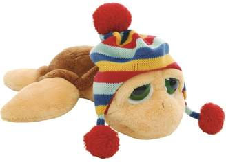 Suki Gifts Lil Peepers Turtle Pebbles Turtle with Trapper Bobble Hat Soft Boa Plush Toy (Small