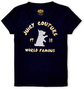 Juicy Couture Girls 4-6x) Navy World Famous Logo Tee