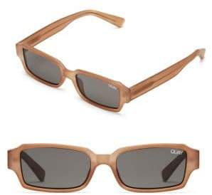 Quay Strange Love Mini Rectangle Sunglasses