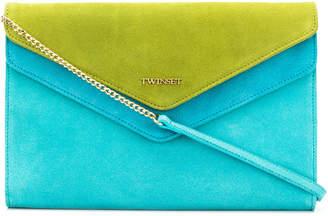 Twin-Set contrast clutch bag