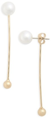 Women's Topshop Imitiation Pearl & Ball Drop Ear Jackets $15 thestylecure.com