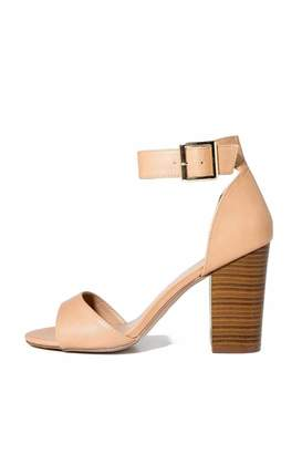 Breckelle's Ankle Strap-Chunky Heel