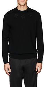Givenchy Men's Star-Appliquéd Wool Sweater - Black