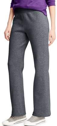 Hanes ComfortSoft Women's Petite Open Bottom Leg Sweatpant_Slt HTR_L