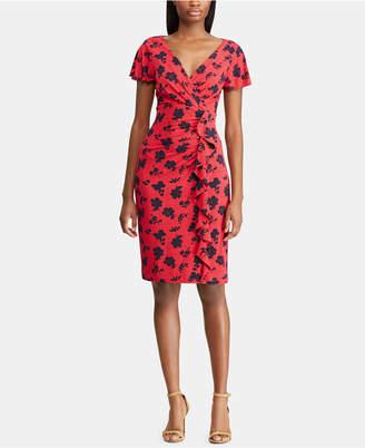 American Living Floral-Print Flutter-Sleeve Dress