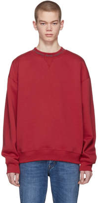 Acne Studios Red Flogho Sweatshirt