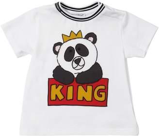 Dolce & Gabbana King Panda Print Cotton Jersey T-Shirt