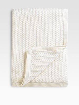 Sofia Cashmere Cashmere Baby-Cable Throw