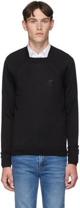 Burberry Black Monogram Knit Sweater