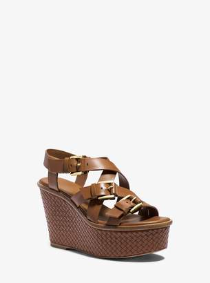 Michael Kors Varick Leather Platform Wedge
