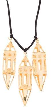 Tory Burch Triple Prism Pendant Necklace