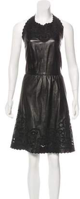 Valentino Leather Mini Dress