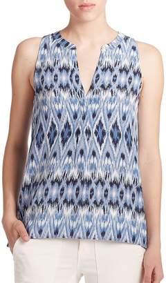 Joie Women's Aruna Silk Ikat Sleeveless Blouse
