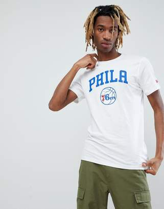 New Era NBA Philadelphia 76ers T-Shirt In White