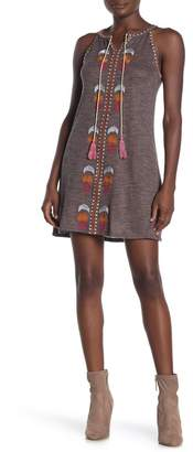 THML Embroidered Sweater Tank Dress