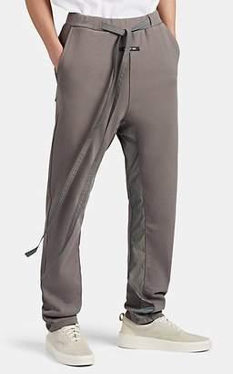 Fear Of God Men's Cotton Terry & Tech-Satin Sweatpants - Gray