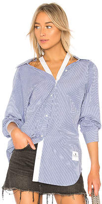 Alexander Wang Striped Long Sleeve Shirt