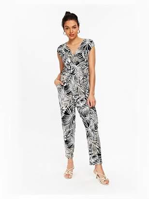 Wallis Petite Jumpsuit - Palm Print