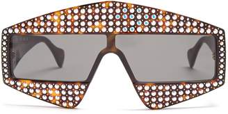 Crystal-embellished acetate sunglasses