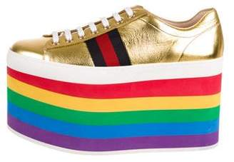 Gucci 2017 Peggy Platform Sneakers