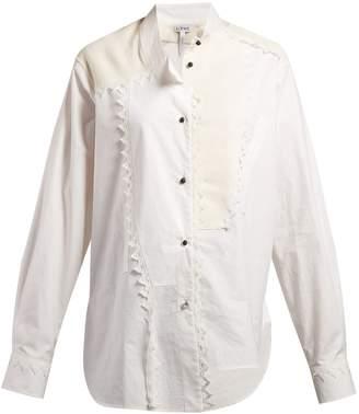 Loewe Lace-trimmed asymmetric shirt