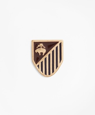 Brooks Brothers Gold-Tone Shield Lapel Pin