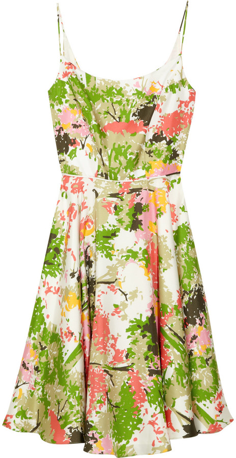 Milly Floral-print silk dress