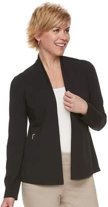 Dana Buchman Women's Zipper-Accent Ponte Jacket