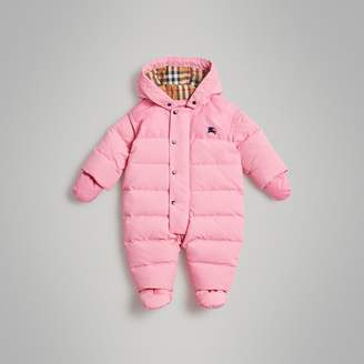 Burberry Down-filled Puffer Suit , Size: 6M, Pink